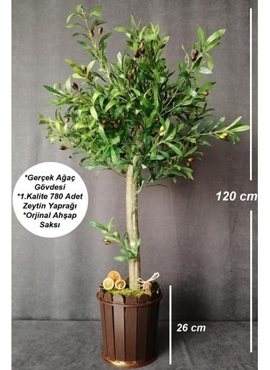 Kuru Çiçek Deposu Yapay Ağaç 1.Kalite Zeytin Ağacı 120 cm Renkli